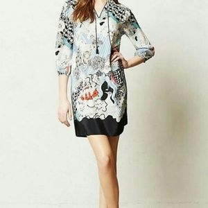 ANTHROPOLOGIE Florence Balducci Cleo Silk Tunic